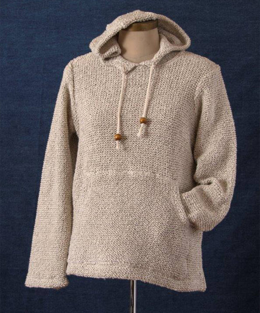 Cotton Girls Handcrafted Long Sleeve Hoodie, Double Knit