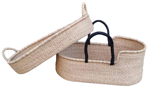 AfricanheritageGH Moses Basket Baby Bed, Baby Bassinet & Changing Basket