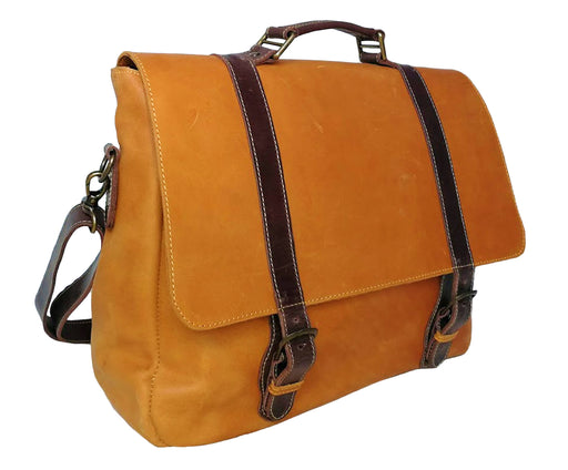 Zeri Messenger Laptop Bag For Men, Full Grain Ethiopian Leather