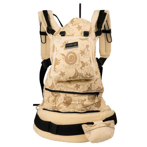 African Baby Carrier Hemp Animal Print Deluxe (Carrier includes all accessories. carry bag, detachable moonbag)
