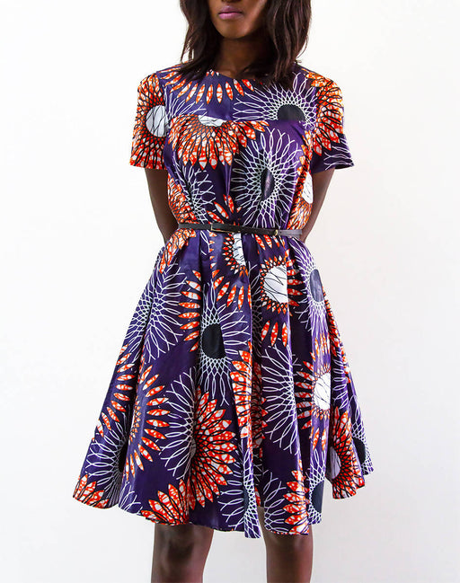 The Nama Collection Women's High Neckline African Print Dress