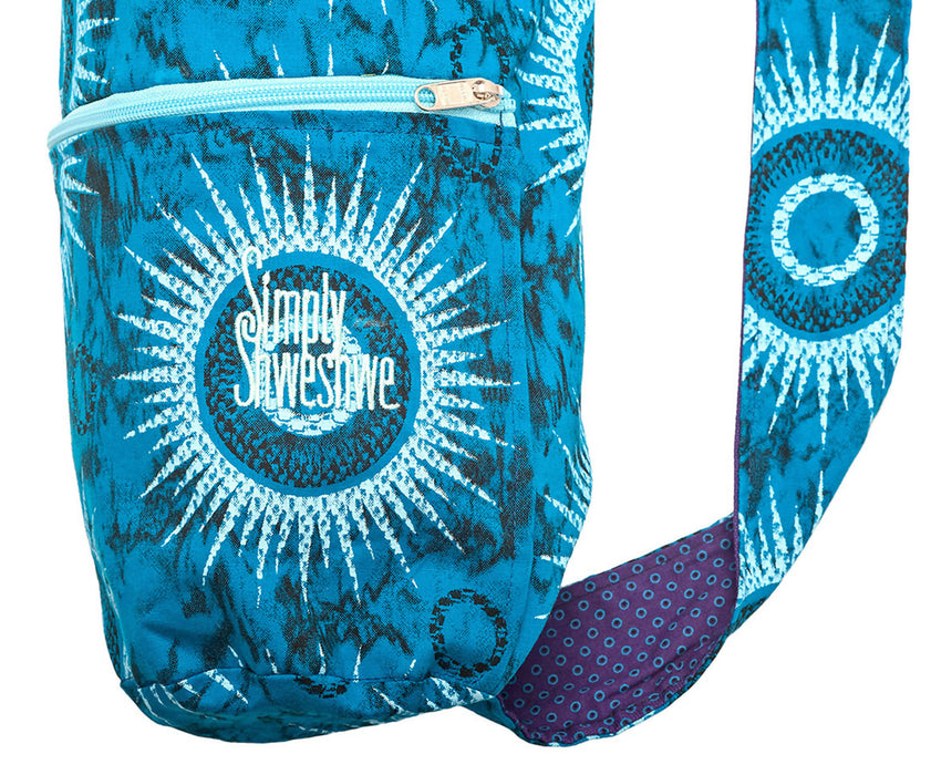 Simply Shweshwe Baltic Blue Yoga Mat Bag