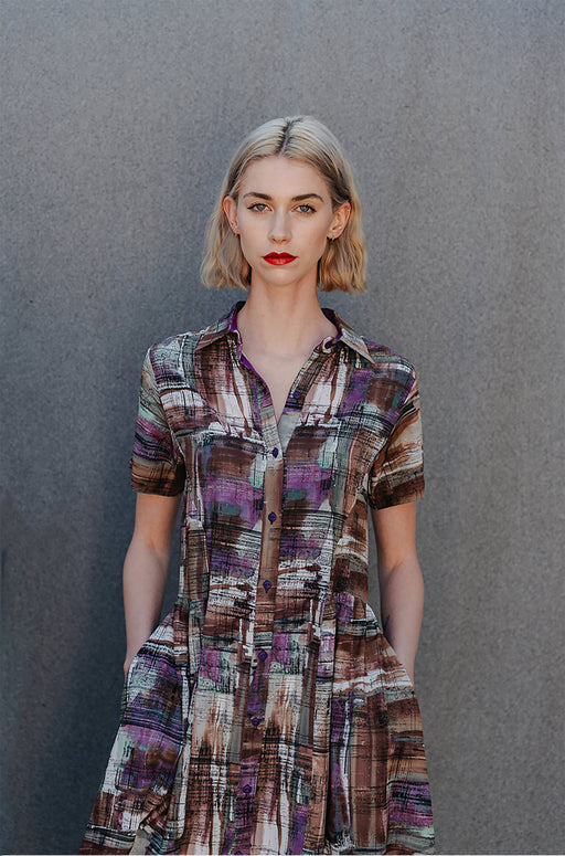 Danielle Frylinck Fortune Dress - Limited Edition Printed Shirt Dress