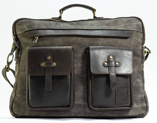 Zeri Genuine Leather Laptop Bag