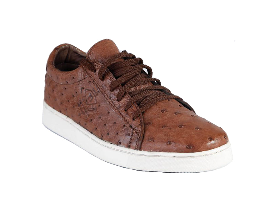 Diomande Men's Genuine Ostrich Leather Sneakers