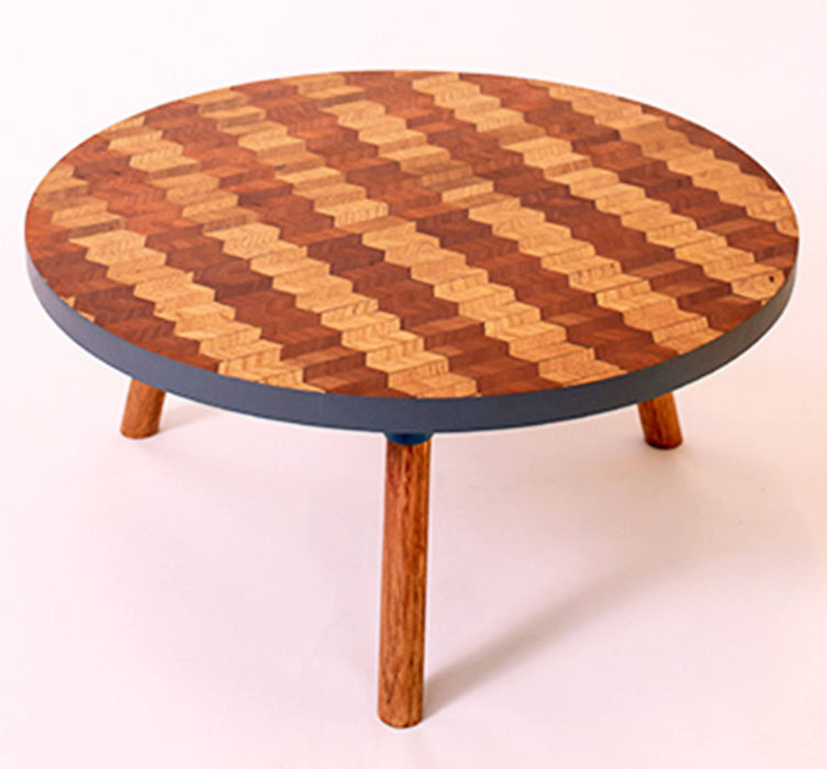 Kaowa Design Wooden Mosaic Table, Steps 60