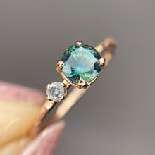"Load image into Gallery viewer, ""Kailani"": 14K rose gold parti sapphire & diamond ring"