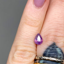 Load image into Gallery viewer, Create your own solitaire ring: 0.86ct pink/violet unicorn pear sapphire
