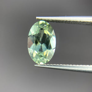 Create your own solitaire ring: 1.17ct green Montana oval sapphire