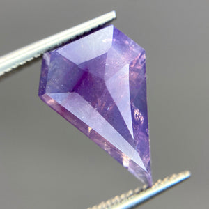 Create your own solitaire ring: 2.62ct pink/violet shield rosecut sapphire