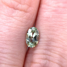 Load image into Gallery viewer, Create your own solitaire ring: 1.17ct green Montana oval sapphire
