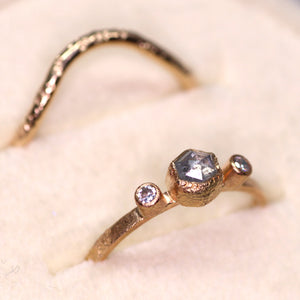 Arch Ring (14K yellow, rose, palladium white gold; multiple styles)