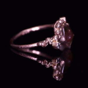 """Sabina"": 14K rose gold watermelon tourmaline & diamond ring"