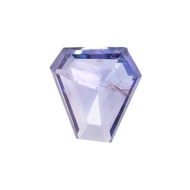 Create your own solitaire ring: 1.74ct shield rosecut violet/blue Umba sapphire