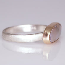 "Load image into Gallery viewer, ""Ivy"": mother of pearl in 14K and sterling silver cocktail ring (size 8.5)"