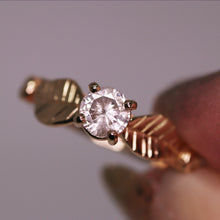 "Load image into Gallery viewer, ""Meadow"": 14K yellow gold salt & pepper diamond ring"