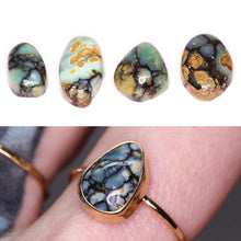 "Load image into Gallery viewer, ""As the Morning"": Create your own 14K yellow or rose gold larger 7 Dwarfs ring or pendant"