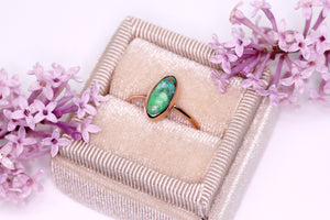 """Peace Ring"": Create your own 14K yellow/rose gold Carico Lake or New Lander ring"