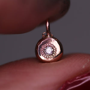 """Adira"": 14K rose gold and salt & pepper diamond necklace"
