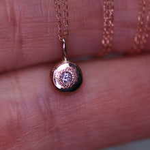 "Load image into Gallery viewer, ""Adira"": 14K rose gold and salt & pepper diamond necklace"