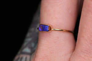 """Victoria"" ring: 14K gold (yellow/rose) Australian opal ring (sizes 3–12)"