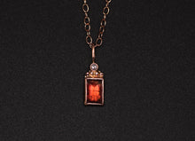 "Load image into Gallery viewer, ""Relic"": 14K rose gold and rosecut tourmaline and salt and pepper diamond pendant (one of a kind)"