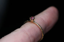 Load image into Gallery viewer, 14K Idaho rhodolite garnet ring (size 5.25 (fits 5–5.25))