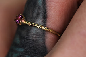 14K yellow gold & Idaho rhodolite garnet ring (LIMITED EDTION; sizes 3–12)