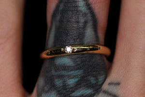 Ethereal ring: 14K yellow/rose gold eternity ring with diamonds (sizes 3–12)