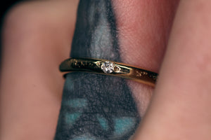Ethereal ring: 14K eternity ring with diamond options