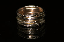 Load image into Gallery viewer, North star rings (14K yellow, rose, and palladium white gold; multiple options)