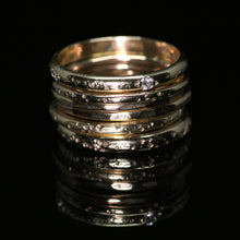 Load image into Gallery viewer, North star rings: 14K rose or yellow gold rings (3 widths; sizes 3–12)