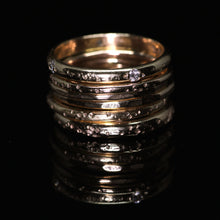 Load image into Gallery viewer, Ethereal ring: 14K diamond eternity ring (size 6.5, ready to ship)