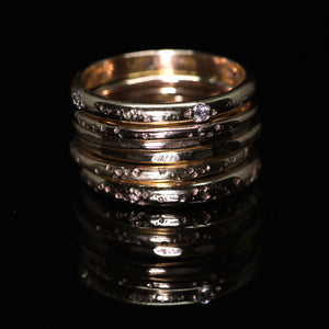 Ethereal ring: 14K diamond eternity ring (size 6.5, ready to ship)