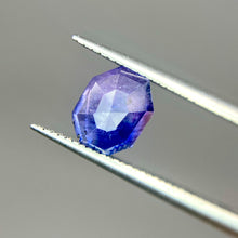Load image into Gallery viewer, Create your own solitaire ring: 1.07ctct inky blue/periwinkle Kashmir sapphire