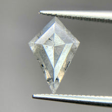 Load image into Gallery viewer, Create your own solitaire ring: 0.80ct Salt & Pepper kite rosecut diamond