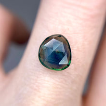 Load image into Gallery viewer, Create your own solitaire ring: 2.09ct blue/green silky Montana sapphire rosecut