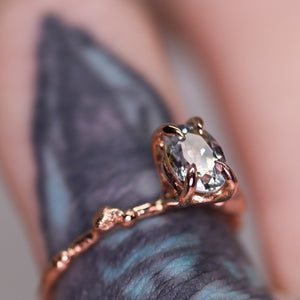 """Calla"": 14K Montana parti sapphire engagement/right hand ring"