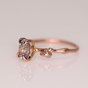 """Calla"": 14K Montana parti sapphire engagement (or fancy right hand) ring; size 5.75"