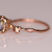 "Load image into Gallery viewer, ""Calla"": 14K Montana parti sapphire engagement (or fancy right hand) ring; size 5.75"