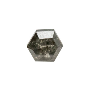 Create your own solitaire ring: 0.98ct Salt & Pepper hexagon rosecut diamond