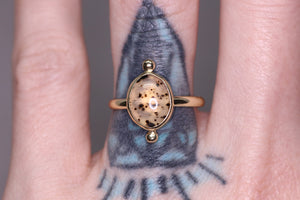 14K yellow gold Montana agate ring (Limited edition; sizes 3–12)