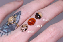 Load image into Gallery viewer, 14K yellow gold Montana agate ring (Limited edition; sizes 3–12)