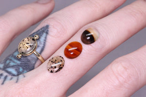 """Esther"" ring: Create your own 14K yellow or rose gold Montana agate ring"