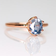 "Load image into Gallery viewer, ""Sonnet"": 14K gold 6-prong ring (with 14 diamond/gemstone options)"