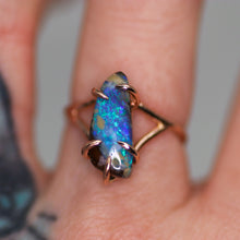 "Load image into Gallery viewer, ""Aoki"": 14K rose gold & natural Australian boulder opal ring"
