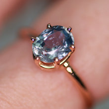 Load image into Gallery viewer, One of a kind and ready to ship: 14K rose gold & pastel blue unheated Umba sapphire