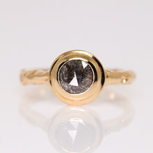 "Load image into Gallery viewer, ""Sequoia"": 14K solitaire ring (with 26 gemstone & diamond options)"