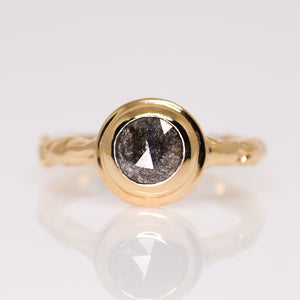 """Sequoia"": 14K solitaire ring (with 26 gemstone & diamond options)"