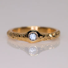 Load image into Gallery viewer, Halo: 14K ring (with 6 diamond/sapphire options)